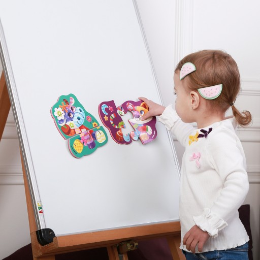 Magnetic baby puzzle «Сow-Сat»