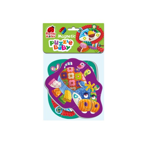Magnetic baby puzzle «Lion-Hippo»